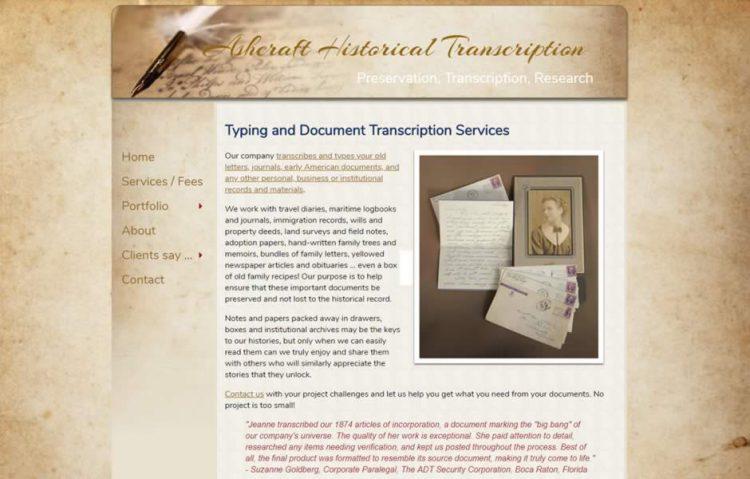 Ashcraft Historical Transcription